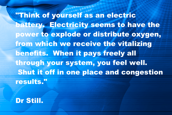 Think of yourself as an electric battery